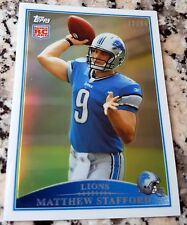 MATTHEW STAFFORD 2012 Topps Chrome Reprint GOLD Refractor SP 2009 Rookie RC /99
