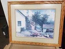 "1986 Burton Dye Print 14"" x 18"" Matted & Framed"