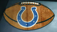 "Indianapolis Colts NFL Football-Shaped Floor Door Mat/Rug, Carpet, 22"" x 35"""