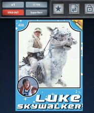 Star Wars Card Trader Empire Strikes Back Throwback 1st Edition Luke Skywalker