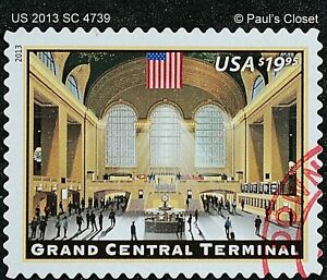 US SC 4739 $19.95 GRAND CENTRAL TERMINAL UNG PRIORITY MAIL STAMP 2013 F/VFINE