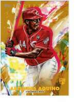 Aristides Aquino 2020 Topps Inception 5x7 Gold #45 /10 Reds