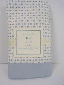 Pottery Barn Baby Carson Crib Skirt Blue #6344