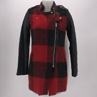 NWT K.Zell Black & Red Print Zip Up Jacket Size Small