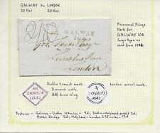 1831 Stampless Cover from Galway, Ireland to London, England