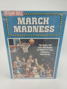 Sealed March Madness NCAA Basketball Board Game Avalon Hill 1990