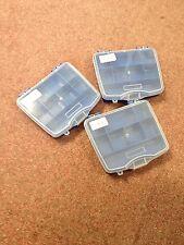 3 X Pequeño organizador de 8 Compartimentos-ideal para tornillos, clavos, pernos, agujas, pesca