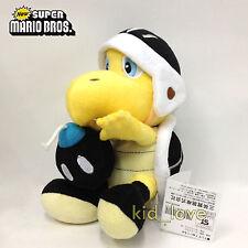 """New Super Mario Bros. Plush Black Bomb Koopa Troopa Soft Toy Teddy Doll 8"""" NWT"""