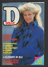 DOLLY 274/1984 SCIALPI PAUL YOUNG RON MOSS ROCK GODDESS 007 J BOND DATA POSTER