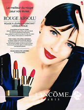 PUBLICITE ADVERTISING 064  1995  LANCOME  ISABALLA ROSSELLINI ROUGE ABSOLU