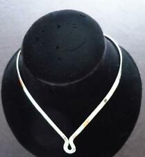 925 Sterling Silver Jewelry 5mm Drop U w/Clasp Choker/Collar/Necklace/Wire
