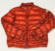 Montcler Teen Unisex Red Down Puffer Jacket. Size 10.