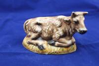 Bull Nativity Figurine Vintage Ceramic Atlantic Mold  3x5 Painted Double Fired