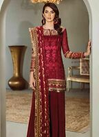 Pakistani Indian Shalwar Salwar Kameez Chiffon Suit Anarkali Bollywood Maria B