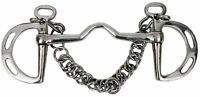 """Showman Stainless Steel Slotted Kimberwick Horse Bit with 5"""" Medium Port Mouth!"""