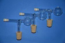 3-er Set Schnapsspender, Ausgießer Portionierer 2CL aus Glas