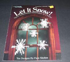 LEISURE ARTS CROCHET #2038 LET IT SNOW SNOWFLAKES LEAFLET PATTERN 1991 OOP