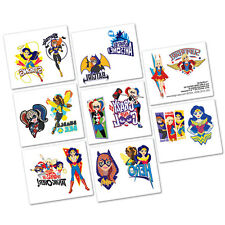 DC SUPER HERO GIRLS PARTY TATTOOS STICKERS FAVOURS PACK OF 16  WONDER WOMAN