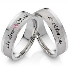 Eheringe Trauringe Verlobungsringe 925 Silber mit Rhodolit und Lasergravur SR05L