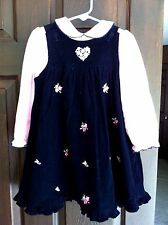 PHILADELPHIA GOOD LAD GIRLS JUMPER DRESS AND TOP NAVY PINK 4