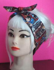 Hair-wrap from Superman fabric Pinup Comic Bandana Scarf Tie Headband super hero