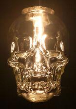 CRYSTAL HEAD VODKA SKULL BOTTLE EMPTY HANGING CEILING LIGHT FIXTURE 120V RED LED