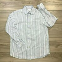 Tommy Bahama Men's Blue Striped Long Sleeve Button Front Dress Shirt Size 15.5