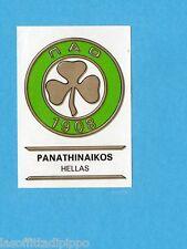 FOOTBALL CLUBS-PANINI 1975-Figurina n.127- PANATHINAIKOS  GRECIA -SCUDETTO-Rec