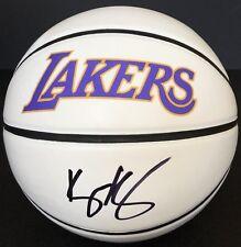 PSA/DNA Los Angeles Laker #0 KYLE KUZMA Signed Autographed Basketball LEBRON
