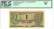 Netherlands New Guinea ... P-4a ... 1 Gulden ... 1950 ... *VF* ... PCGS 30