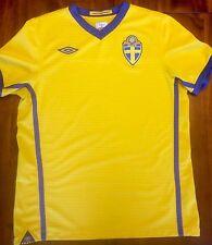 Umbro SWEDEN Home 2010-2012 National Soccer Jersey M Shirt Sverige Football SvFF
