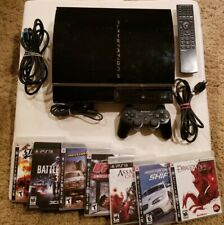 PlayStation PS3 CECHA01 60gb Backwards Compat + 1 Controller +7 games SEE VIDEO