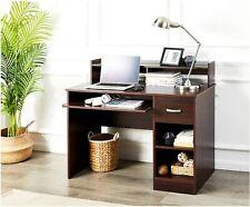 Student Computer Desk Cherry Brown Table Laptop Office Home Kids Dorm Furniture