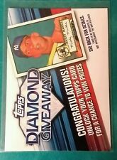 2011 TOPPS DIAMOND GIVEAWAY MICKEY MANTLE #TDG-1 NEW YORK YANKEES 1952 NY MICK