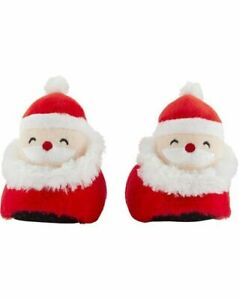 Carter's Toddler Penguin / Santa Christmas Non-Slip Bottom Faux Fur Slippers