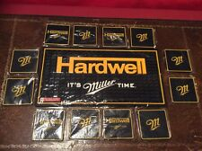 DJ Hardwell and Miller Beer Thick Rubber Bar Drinks Mat And 12 Beer Coasters New