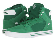 NEW SUPRA VAIDER GREEN WHITE SURF BMX SNOW HIP HOP SKATEBOARD SPORTS SHOES 12