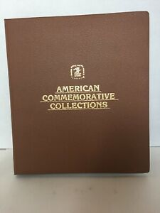 American Commemorative Collections Stamp Album W/ Stamps