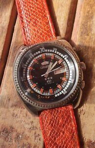 Vintage 70's Orient KD King Diver Automatic 21J Day/Date men Wristwatch