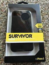 Apple iPhone 5/ 5C Griffin Survivor Slim Case Cover Black  (Genuine)