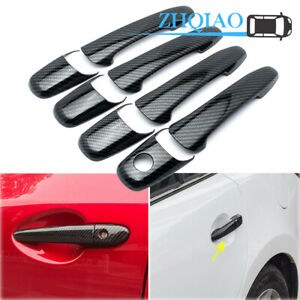 Carbon Fiber Style Door Handle Cover Trim Fit Mercury Milan 2006-2011