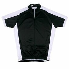 Cycling Jersey, 100% Polyester, B&W, full zip, silicon waist gripper. XLarge
