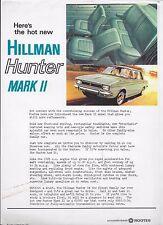 1968 Hillman Hunter Mark II foglietto illustrativo