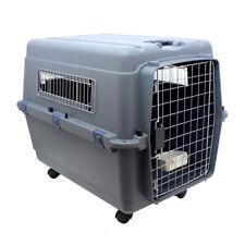 Trasportino cani e gatti Gabbietta per gatti trasportino cane Grigio 90 LITRO
