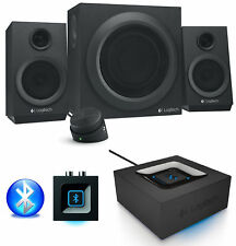 Logitech Z333 2.1 Speaker System with Bluetooth Audio Adapter Turn Speaker Wi-Fi