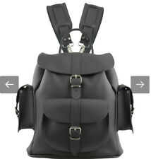 GRAFEA Black Leather Backpack