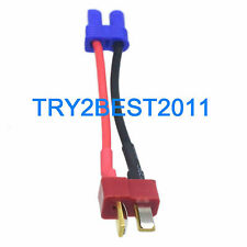 EC2 female to T Connector deans plug male wire adapter For RC lipo battery