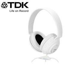 TDK Life on Record Over-Ear Headphones in-line mic & remote iPhone Samsung iPod