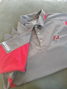 Tampa Bay Buccaneers Mens NFL Reebok Polo Shirt Embroidered Logo Size Large
