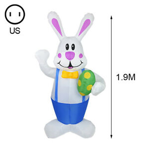 1.9m Inflatable Easter Bunny Doll Toy LED Night Light Figure Yard Outdoor GaP35